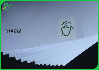 FSC Uncoated And Virgin Pulp Style High White 70gsm White Wood Free Paper