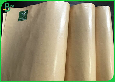 Harmless 60gsm 100gsm PE Coated Brown Kraft Paper For Fried Food Wrapping Bag