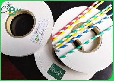 China 28GSM 24mm x 4000 meters / bobbin Food Grade Straw Wrapping Paper Roll For Party supplier