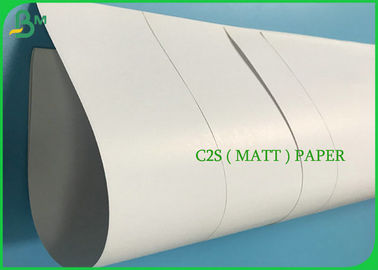 Custom Size Glossy Art Paper 115g Matt Coated With 400mm 500mm Width Roll