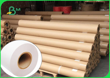 China Strong Stiffness 80g CAD Plotter Paper Roll For Engineering Drawing 36 Inch Width supplier