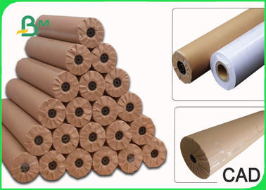 "24 "" 36 "" 48 "" 60 "" × 50m Plain CAD Drawing Paper Roll For Apparel Factory 80GSM"