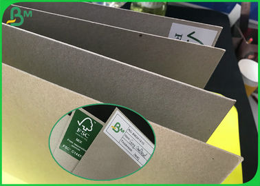 Grade AAA Uncoated Laminated Grey Board With FSC Recycled 300g To 2000g