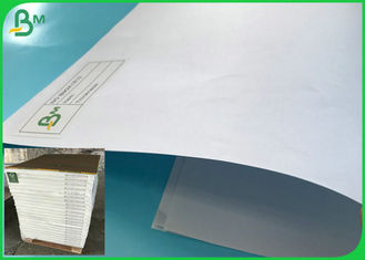 70 * 100CM Non - Curling White Uncoated Papel Bond In Ream Packaging
