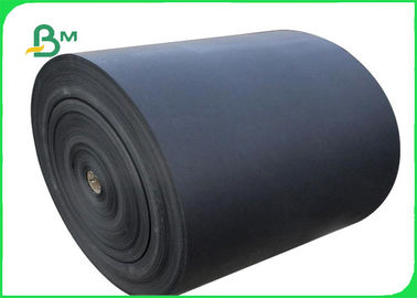 300 - 350 GSM One Side Coated Glossy Black Cardboard For Box Packing