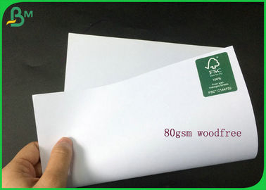 Different Thickness White Uncoated Woodfree Paper Roll With Good Package