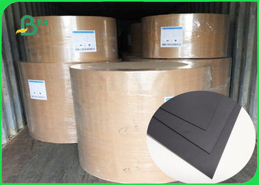 China FSC SGS FDA Certified 350gsm 400gsm Black Cardboard For Notebook Covers supplier