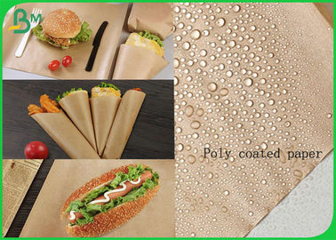 China FDA Certified Greaseproof Kraft Food Wrapper Reel With Poly Coated supplier