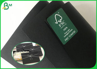 Double Sides Black Book Binding Board / 200G 300G Recycled Black Cardboard With High Stiffness