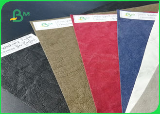 China Eco - Feiendly Natural Fiber Pulp Washable Kraft Paper Colorfol For DIY Carry - On Bags supplier