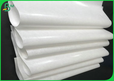 China Grade AA 40gsm 50gsm 60gsm+10g PE Coated White Kraft Paper Roll For Packing supplier