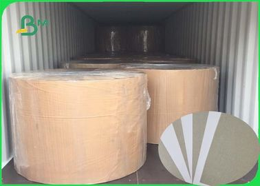 China Great Stiffiness Grey Back White Side Clay Coated Paper Offset Printing In Rolls supplier