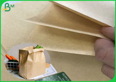 China FSC 80G 95G 100G 110G Unbleached Brown Kraft Paper Roll With Recycled Pulp supplier
