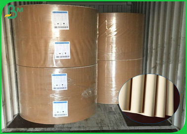 China Eco - Friendly Recycled Pulp 70gsm 80gsm Brown Kraft Liner Paper For Grocery Bags supplier