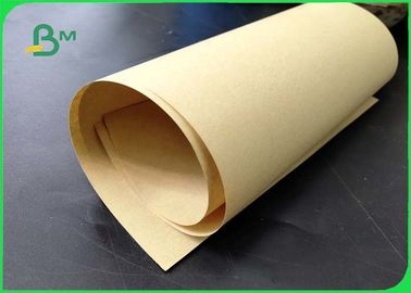 China 80gsm 100gsm Good Oil Resistance Brown Craft Paper For Bags Of Shopping In Rolls supplier