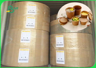 China Weight 10gsm - 20 gsm FDA approved One side plastic coated kraft paper in rool supplier