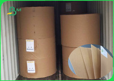 China 350gsm Tear Resistant 100% Wood Pulp Brown Kraft Liner Paper For Package supplier