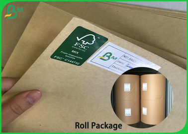 China Recycled & Virgin Pulp Kraft Liner Paper Brown 50g - 300g for Wrapping Bags / Box supplier