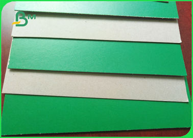 1.2mm 1.3mm Green Lacquered Carton Board Grey Rigid Cardboard For Storage Boxes