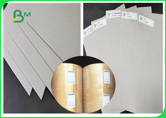 China FSC 1MM 1.5MM 2MM Grey Chipboard Paper / Grey Cardboard Not Easy To Deform supplier