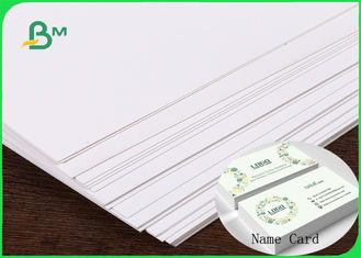 China FSC & ISO High Thickness Ivory Board Paper C1S White Cardboard 1.35MM 1.5MM For Making Name Card supplier