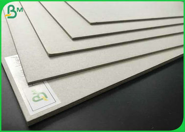 High Density 700 x 1000mm Laminated Grey Board 1.35mm 1.5mm 2.0mm Grey Chipboard For Packaging