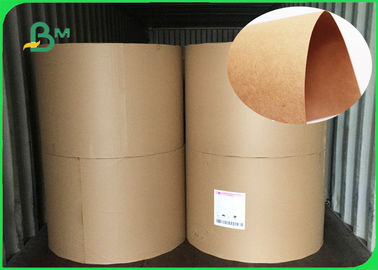 FSC 70 * 100CM Brown Kraft Liner Board Natural ColorTear Resistant In Rolls