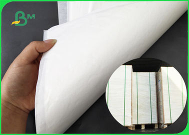 China White Color One Side Glossy Kraft Paper Innoxious 30GSM 70CM 90CM 100CM supplier