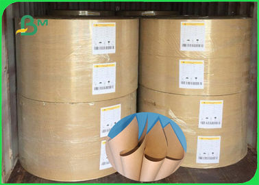 China Width 70×100cm Tear Resistant Smooth Surface 70 - 80g Brown FDA Kraft Paper In Roll supplier