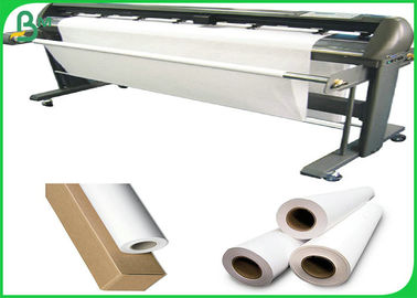 China Good Strength 80gsm White Inkjet Plotter Paper Roll For Garment Cutting System supplier