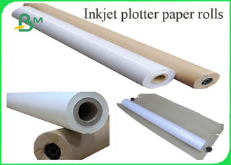 China 80GRAM Inkjet Plotter Paper In Rolls Core 3 Inch / 5 Inch For Designing supplier
