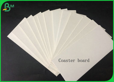 China 1.4mm 100% Virgin Pulp White Coaster Board For Making Car Air Fresher Or Coaster supplier