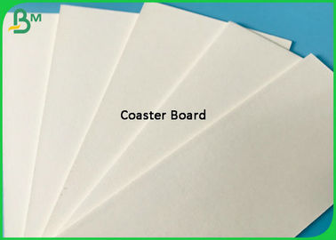 Uncoated 220G 270G 320G 350G White Coaster Paper / Absorbent Paper 0.4mm - 2mm Thick