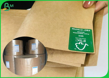 Uncoated 65*100CM Brown / White Sack Food Kraft Paper With FSC And SGS Certified