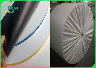 China Jumbo Roll 600mm Hard Not Easily Deformed Colored 60 / 120gsm Straw Paper For Drink supplier