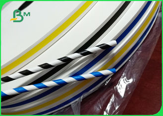 Size 240 - 600mm Stripe And Full Printing Edible Straw Paper For Hotel