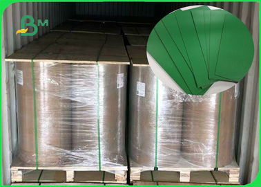 China FSC Accredited 1.2MM Green Board Great Stiffiness Rolls Packing For Making Box supplier