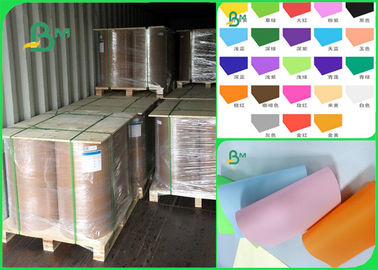 60gsm 70gsm 80gsm Pure Wood Pulp Good Writing Performance Colored Offset Paper In Roll