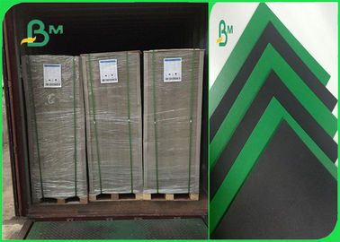 China 1.2mm Green / Black Colored Moistureproof Cardboard Sheets For Lever Arch File supplier
