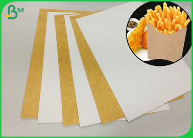 FSC Coated 250G White Face Kraft Liner Board For Making French Fries Box