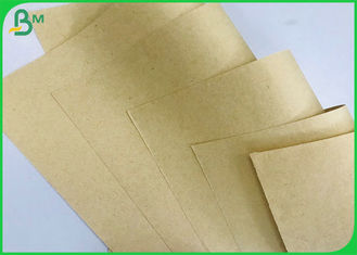 FSC White Recycled Pulp 50gsm Brown Kraft Paper Roll , Virgin Kraft Liner Board