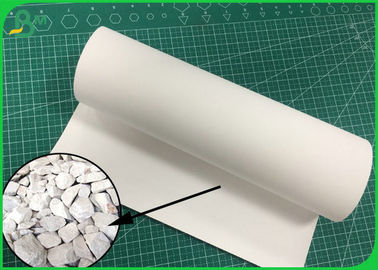 China Waterproof And Durable 100UM 120UM 140UM Stone Paper Roll For Notebook supplier