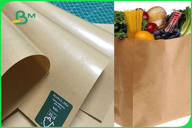 China FDA FSC 300gsm 350gsm Brown Single PE Coated Kraft Paper Sheet For Box Of Food supplier