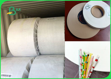 60gsm 120gsm Good Waterproof Performance Slitted Paper For White Food Grade Paper Straw