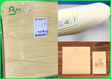 60gsm 70gsm Soft Color Good Writing Performance Cream Paper For Notebook