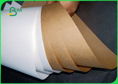 80gsm 90gsm FDA Virgin Pulp White / Brown Craft Paper Roll For Flour Bag
