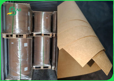 300gsm 350gsm Food Grade Brown Kraft Paper High Bursting Resistance In Roll