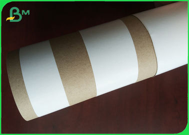 "Recycled Kraft Liner White Top 170gsm In 24"" 30"" Roll Width High Strength"