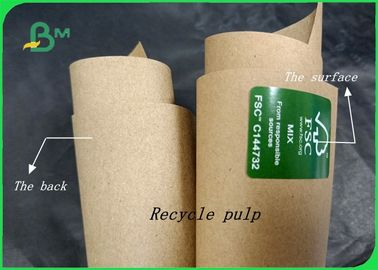 80gr - 140gr Recycle Pulp Good Toughness Kraft Paper Sheet For Shopping Bags