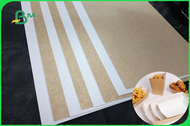 One Side Solid White Flip Side Kraft Paper Sheet 32 X 40inches For Packaging Box